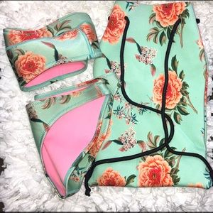 Triangl Bathing Suit Set w/carrying bag